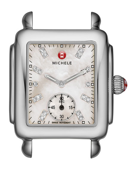 MICHELE Deco 16 Stainless Watch Head & 16mm