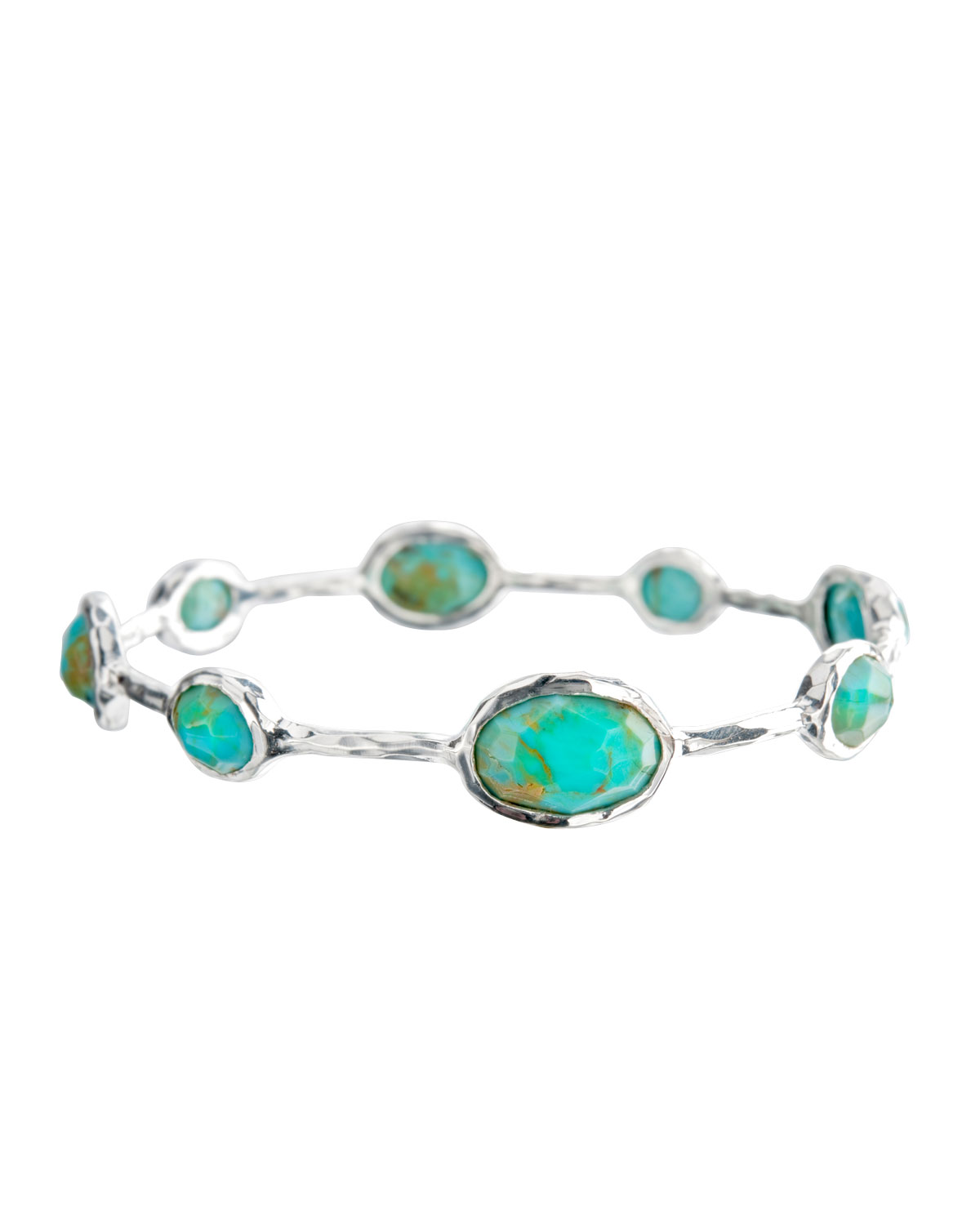 Ippolita 925 Rock Candy Eight-Stone Bangle in Turquoise