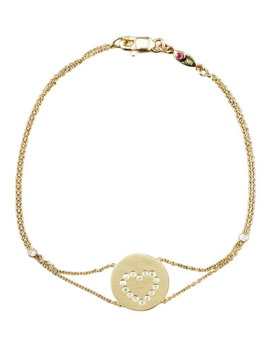 Roberto Coin Exclusive Pave Heart Medallion Bracelet