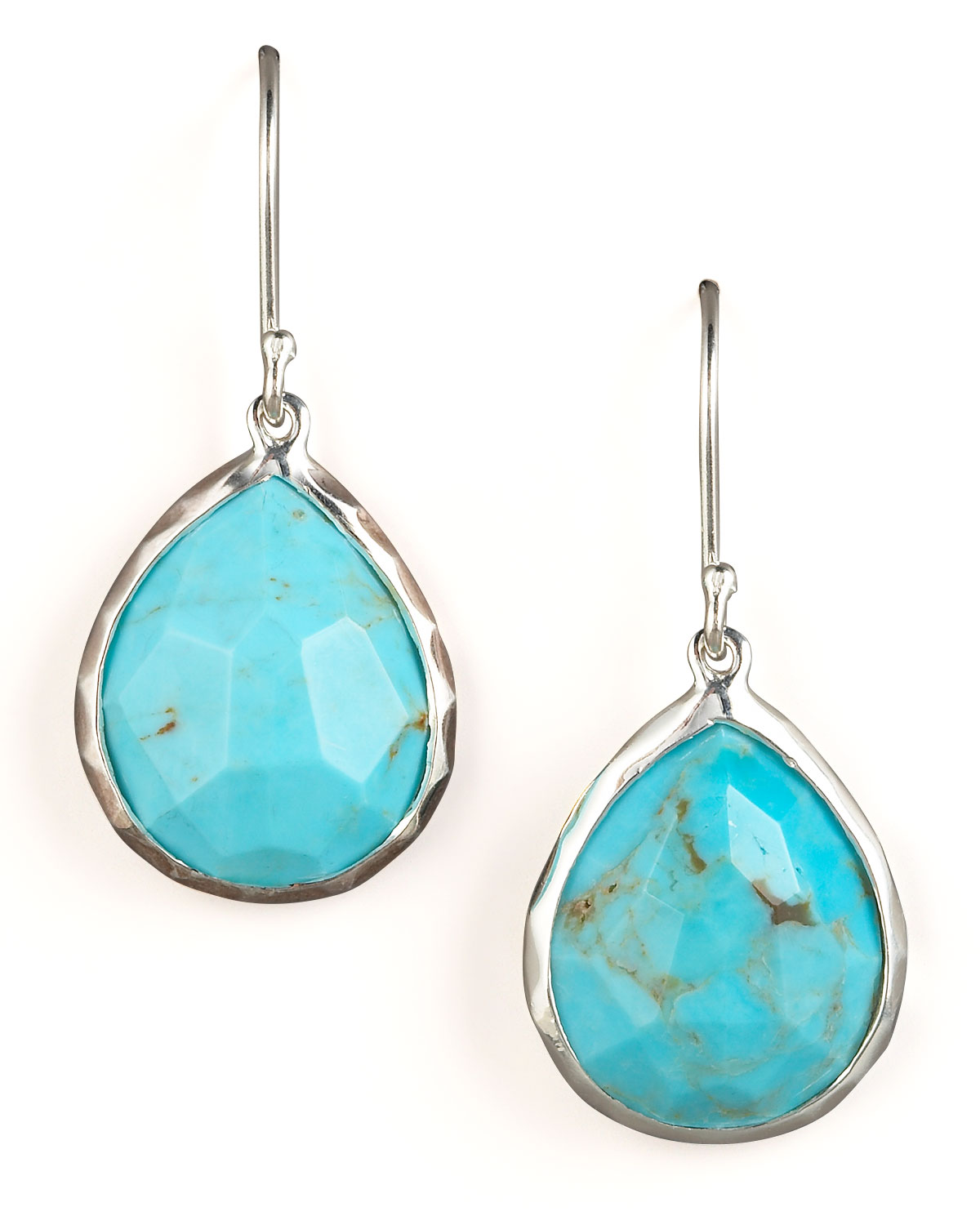 Turquoise Teardrop Earrings Small