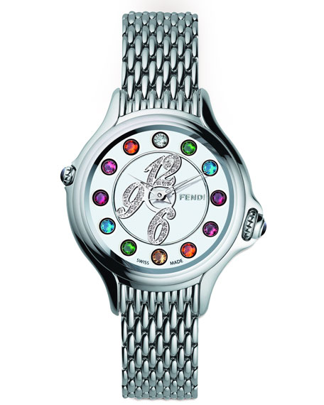 Crazy Carats Topaz & Diamond Watch, Multicolor/Pink/Blue