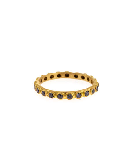 Pave Black Diamond Ring