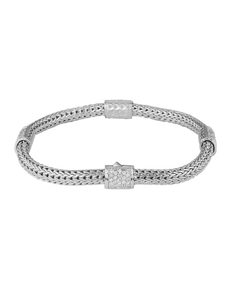 Pave Diamond Station Bracelet