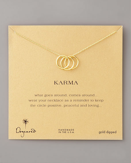 THREE RING KARMA NECKLACE