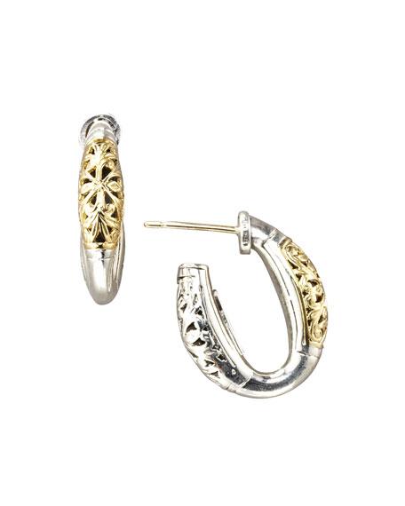 Konstantino Silver & Gold Hoop Earrings