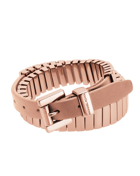 Double-Wrap Belt Bracelet, Rose Golden