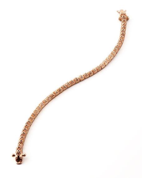 Pave Crystal Pyramid Tennis Bracelet