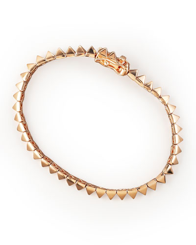 Rose Gold Pyramid Tennis Bracelet