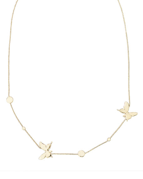 18k Gold Butterfly Necklace