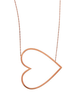 Jennifer Zeuner Integrated Heart Pendant Necklace