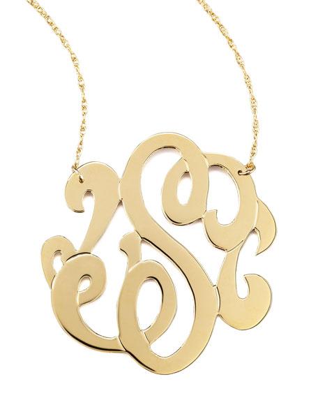 Jennifer zeuner swirly initial necklace matching items neiman marcus swirly initial necklace s aloadofball Choice Image