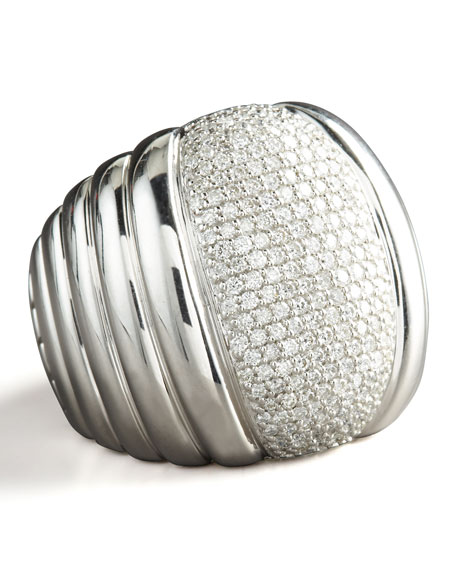 Bedeg Diamond-Center Ring, Silver