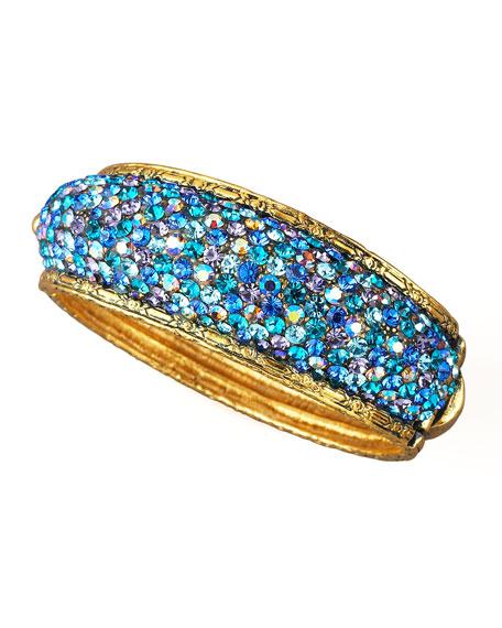 Pave Crystal Bracelet, Blue