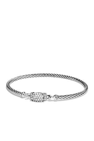 David Yurman Petite Wheaton Bracelet with Diamonds