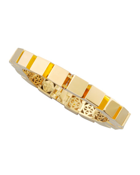 Small Cube Bracelet, Gold