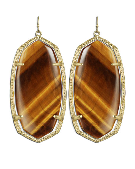 Danielle Earrings, Tiger's Eye