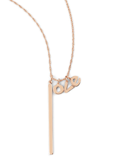 Jennifer Zeuner Hanging Love Charm Necklace