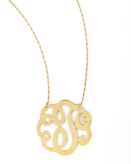 Jennifer Zeuner Swirly Initial Necklace, M