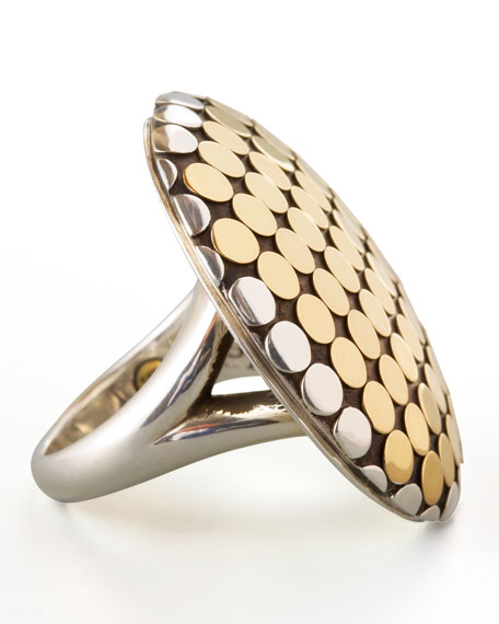 Mixed Metal Dot Ring