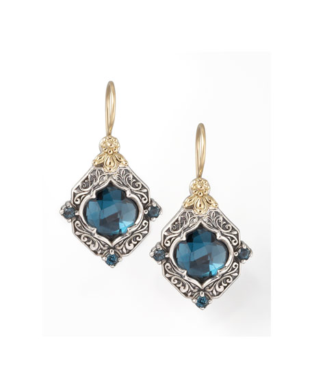 KonstantinoLondon Blue Topaz Drop Earrings