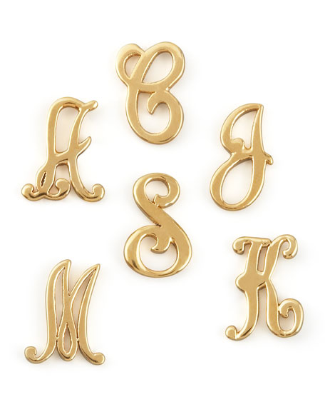 Gold Initial Earring, Right