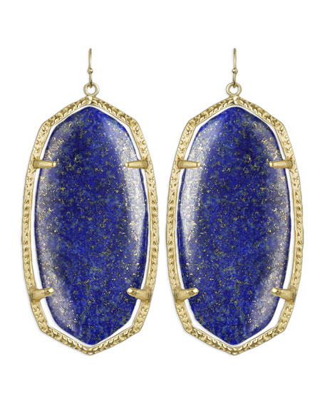 Danielle Earrings, Lapis