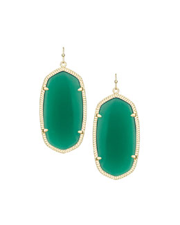 Kendra Scott Danielle Earrings, Green Onyx