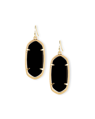Kendra Scott Elle Earrings, Black Onyx