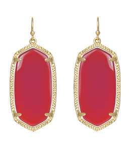 Kendra Scott Elle Earrings, Fucshia Jade