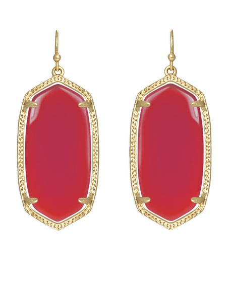Elle Earrings, Fucshia Jade
