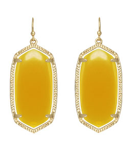 Kendra Scott Elle Earrings, Yellow Onyx