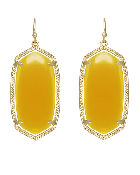 Elle Earrings, Yellow Onyx
