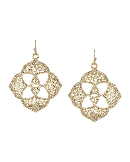 Dawn Logo Earrings, Gold