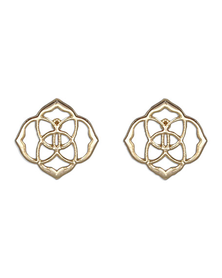 Dira Stud Earrings, Gold