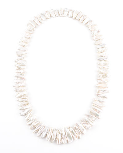 "Nest Freshwater Pearl Necklace, 36""L"