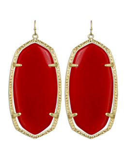 Kendra Scott Danielle Earrings, Red Magnesite