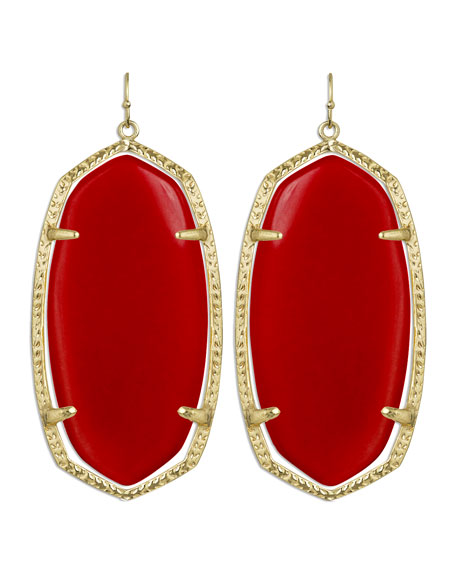 Danielle Earrings, Red Magnesite