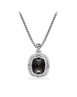 David Yurman Labyrinth Large Pendant with Black Onyx and Diamonds