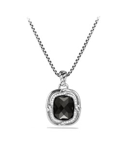 David Yurman Labyrinth Medium Pendant with Black Onyx and Diamonds