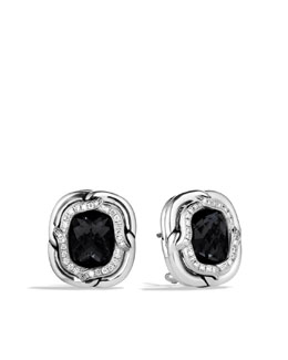 David Yurman Labyrinth Earrings with Black Onyx and Diamonds