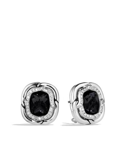 David Yurman Labyrinth Earrings with Black Onyx and Diamonds