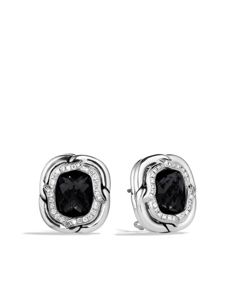 Labyrinth Earrings with Black Onyx and Diamonds