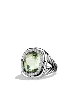 David Yurman Labyrinth Ring with Prasiolite and Diamonds