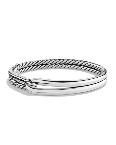 Labyrinth Single-Loop Bracelet in Sterling Silver