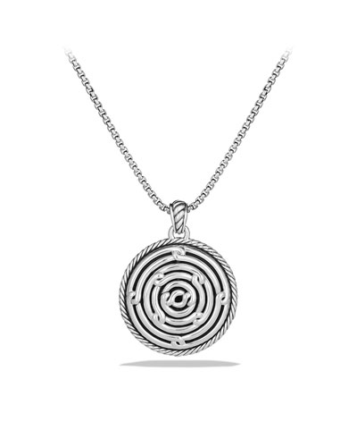 David Yurman Labyrinth Small Disc Pendant