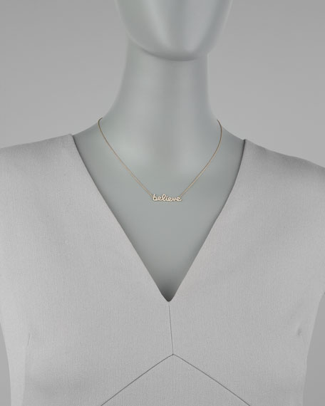 Diamond Believe Necklace, Yellow Gold