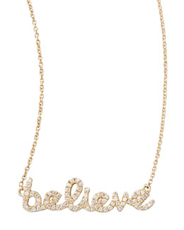 Sydney Evan Diamond Believe Necklace, Yellow Gold