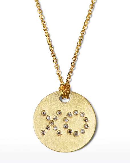 Roberto Coin Diamond XO Medallion Necklace