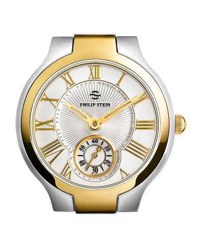 Philip Stein Small Round Watch Head, Two-Tone