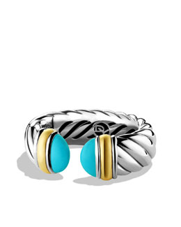 David Yurman Waverly Bracelet with Turquoise and Gold
